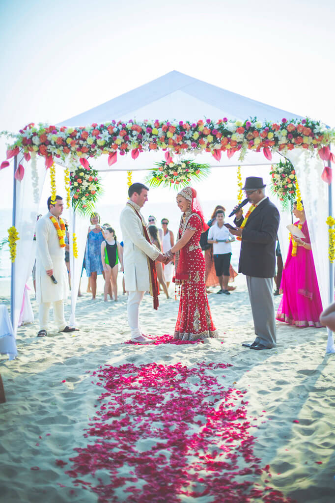 Destination Wedding in Goa Beachshack Wedding in Goa of Sophie and Russell planned by Memorable Indian Weddings 9