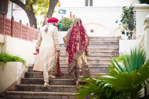 Sameer and Parnath Gujrati Sikh Destination Wedding Planned by Memorable Indian Weddings in Jaipur at Taj Jai Mahal Palace Hotel Reception (5)