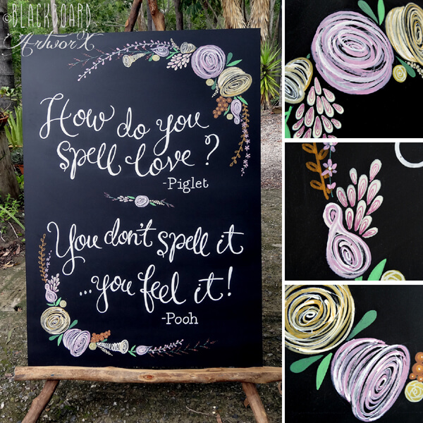 chalkboard - 7 ways to incorporate quotes in your wedding and sprinkle the magic of words (2)