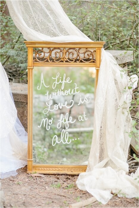mirror 7 ways to incorporate quotes in your wedding and sprinkle the magic of words (7)