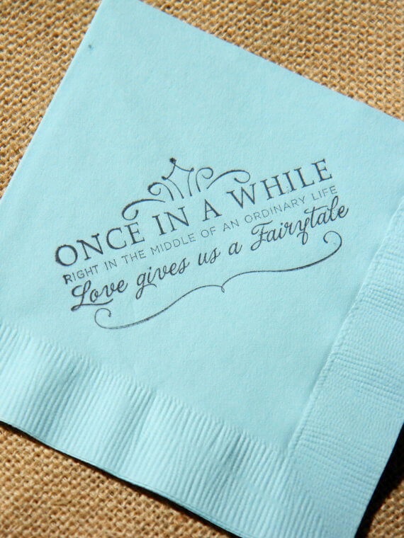 napkins 7 ways to incorporate quotes in your wedding and sprinkle the magic of words (6)
