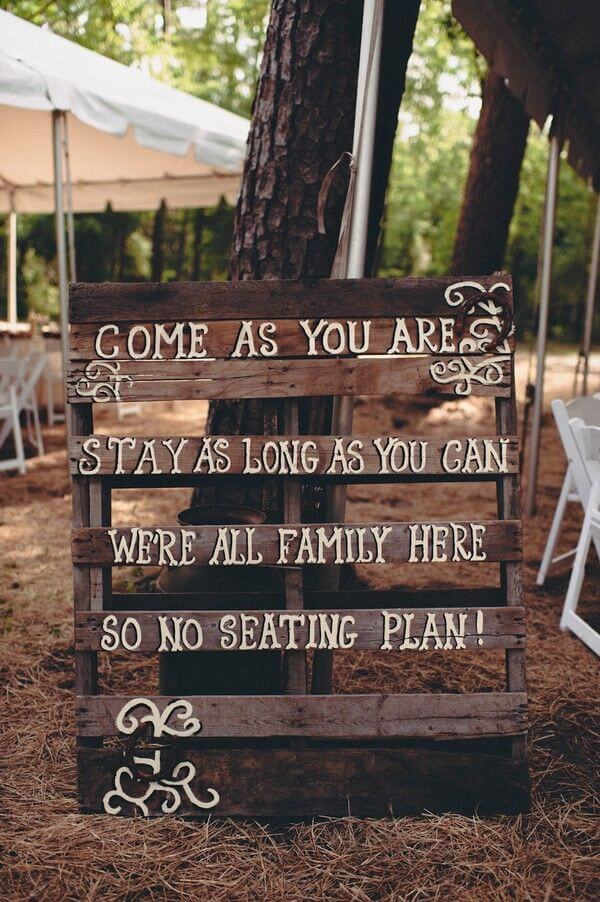 sign board - 7 ways to incorporate quotes in your wedding and sprinkle the magic of words (1)