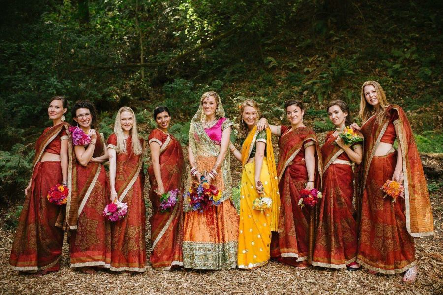 marigold inspired indian wedding featured on memorable indian weddings photography by third element photo7