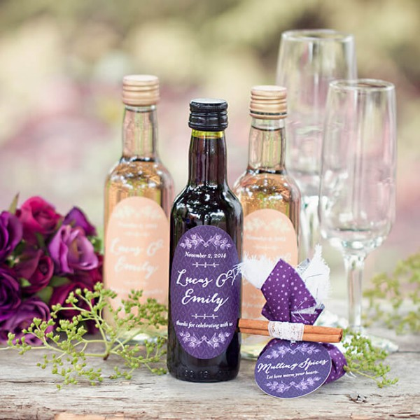wine as wedding favor