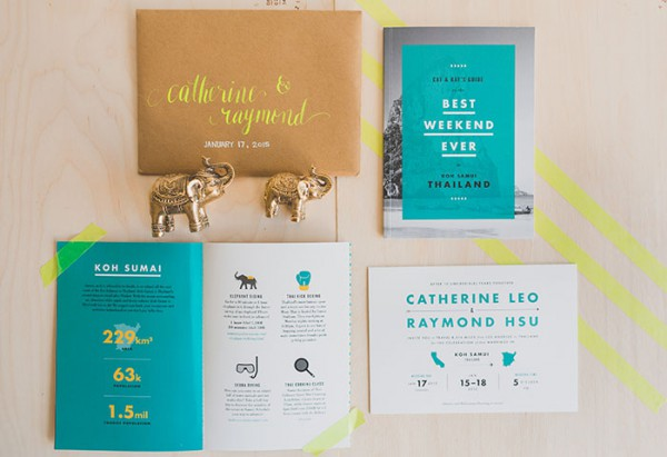 catherine and raymond destination wedding in koh smui thailand stationary themes 4