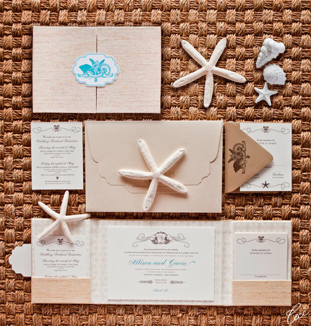 Cecei Newyork wedding invitation destination