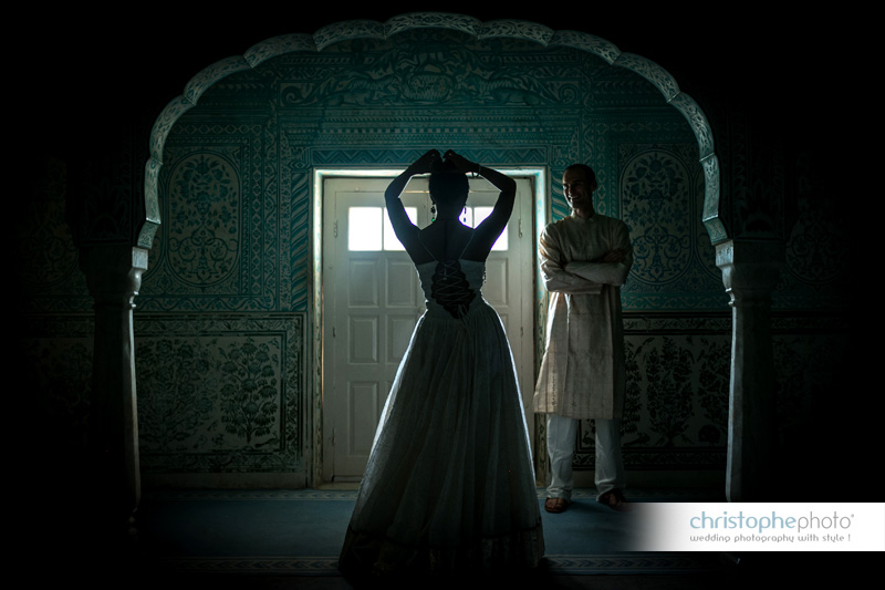 Destination Wedding at Samode Palace India captured by Christophe Visuex