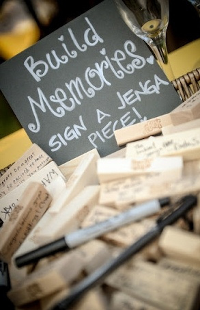 Jenga Guest Book Ideas