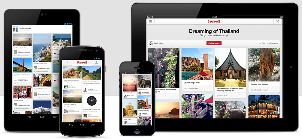 Pinterest across devices