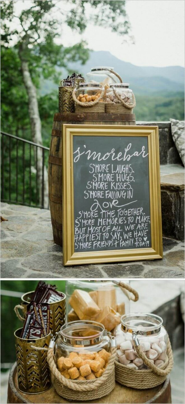 Smores bar for your wedding