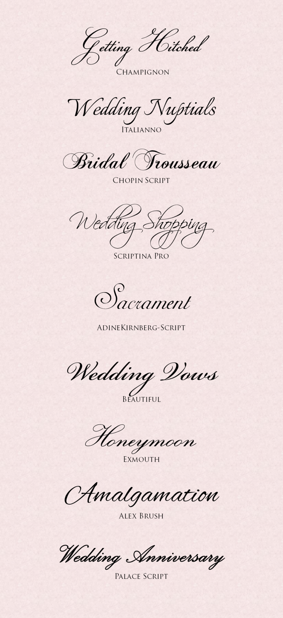 Wedding Invitation Fonts featured on Memorable Indian Weddings