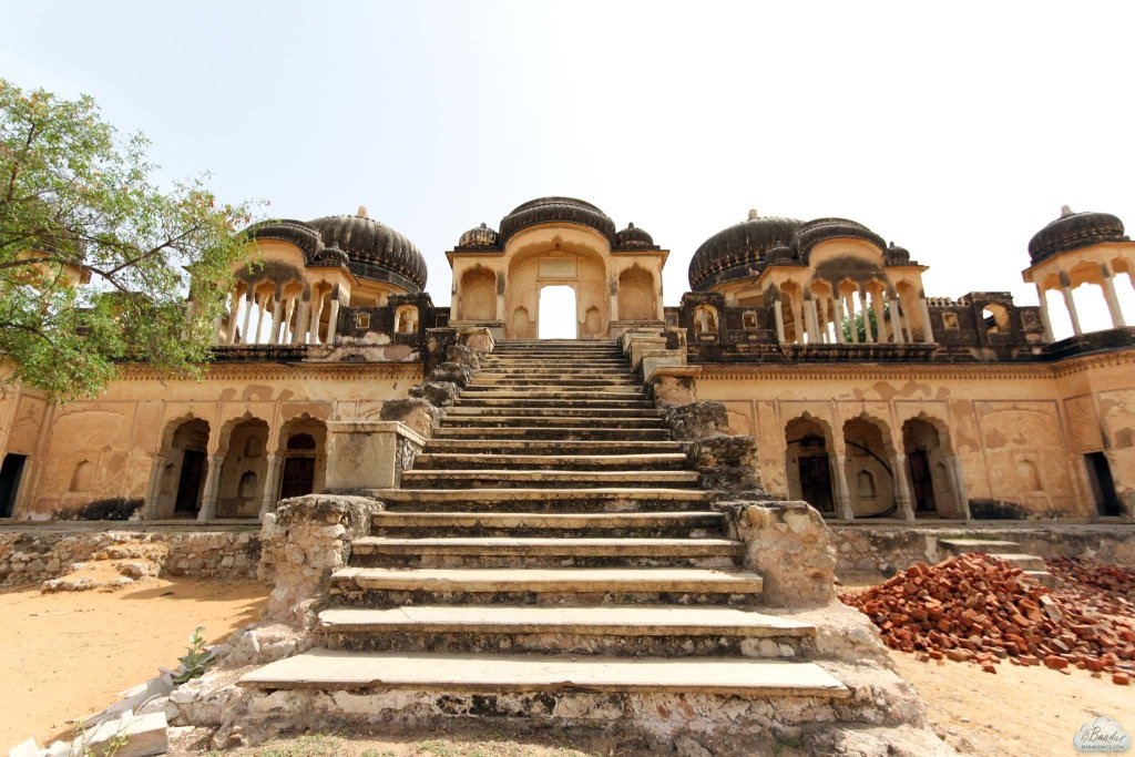 Chatris (cenotaphs) of ancestors at Alsisar village.