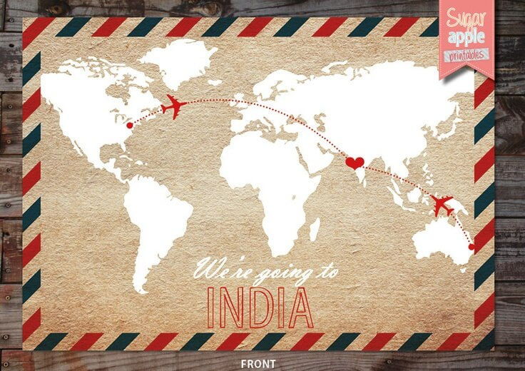 destination wedding invitation map india