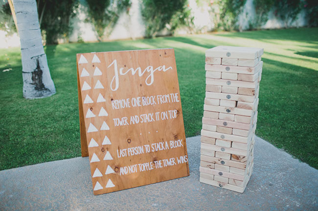 jenga for your wedding