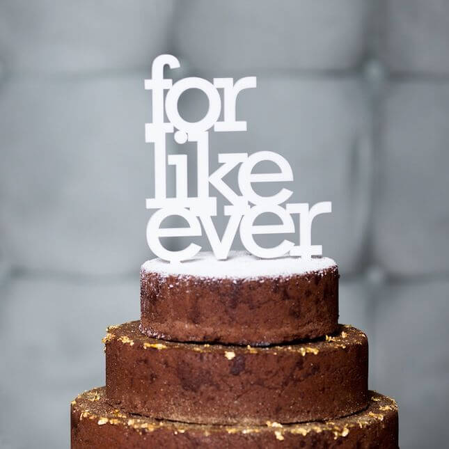 oh dier wedding etsy cake topper