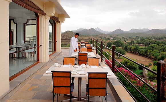 rooftop dining at devigarh