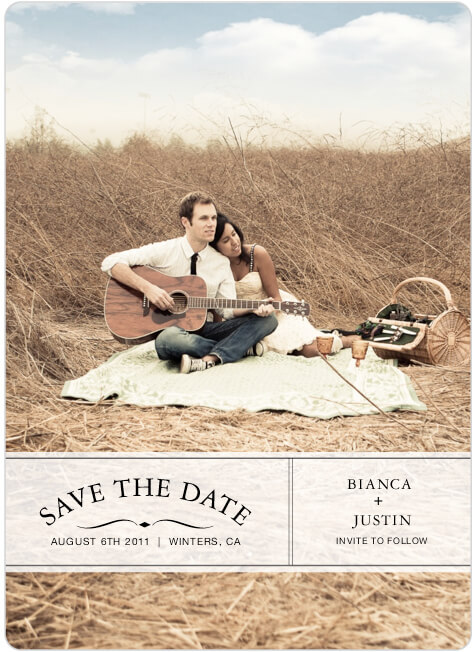 Invitation of Justin and Bianca