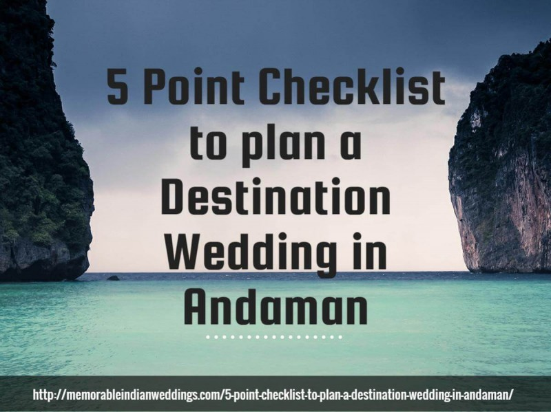 Infographic Are your dreaming of a destination wedding in Andamans